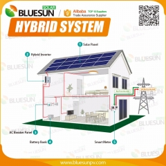7KW hybrid solar system with battery bank for single phase 220V