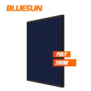 all black poly 260w 265watt 270wp 280w solar panel PV module