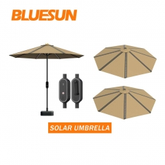 flexible pv modules umbrella beach solar panel umbrella for holiday resorts